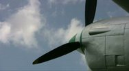 Stock Video Footage of Aircraft P-38 Lightning engine prop time lapse HD
