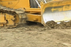 Bulldozer close up 3 - stock footage