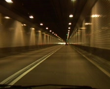 Tunnel ride Stock Footage