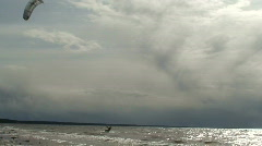 Stock Video Footage of Kite surfing three in the Baltic sea