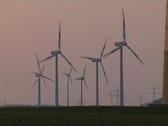 Wind energy generators Stock Footage