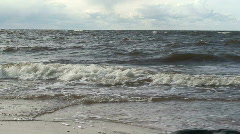 Kite surfing sea one - stock footage