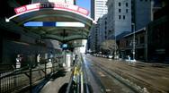 Tram station timelapse Stock Footage