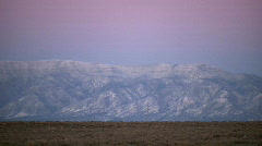 Mountain and Snowy Desert Scene Stock Footage