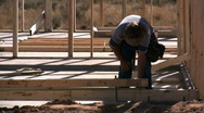 Construction-Using a Tape Measure Stock Footage