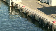 Commercial wharf one, close-up Stock Footage