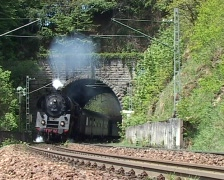 "Steam train ""Schwarzwaldbahn"" - stock footage"
