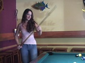 Stock Video Footage of Girl playing pool 2