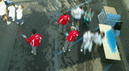 Rome marathon timelapse 03 Stock Footage