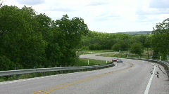 Cars two on road HD Stock Footage