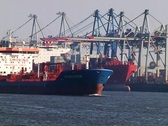 Stock Video Footage of Hamburg Freight Harbour