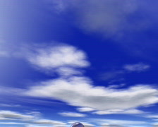 Animated clouds and rain bubbles Stock Footage