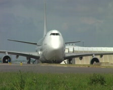 Cargo airplane taxiing Stock Footage