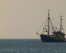 Shrimping boat Stock Footage