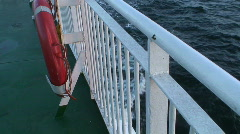 View from the sailing cruise ship at sunset Stock Footage