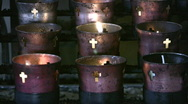 Stock Video Footage of Offering candles very close 9 candles HD