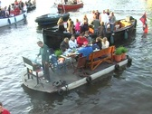 Stock Video Footage of Barbecue on the river Amstel