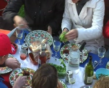 Dinner at the Amstel in Amsterdam Stock Footage
