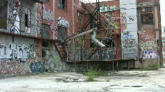 Building graffiti zoom in HD Stock Footage