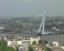 Erasmusbridge in Rotterdam Stock Footage