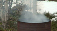 Stock Video Footage of Burning in a barrel two