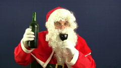 santa drink - stock footage
