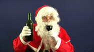 Santa drink Stock Footage