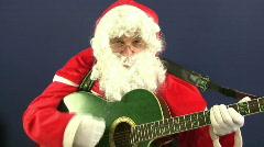 santa guitar - stock footage