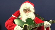 Stock Video Footage of santa guitar