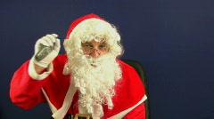 santa phone - stock footage