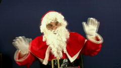 Santas dance - stock footage