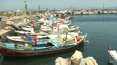 Fishing Boats in harbor. HD 1080i Stock Footage