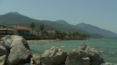 Villas on the seafront, with sound. HD 1080i - stock footage