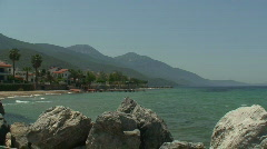 Villas on the seafront, with sound. HD 1080i Stock Footage