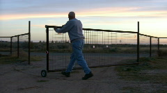 Closing the Gate - stock footage
