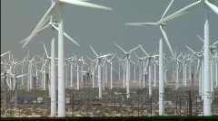 Railroad_windfarm Stock Footage