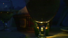 Resaurant wine glass HD 1080i Stock Footage