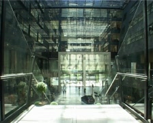 Office building interior accelerated Stock Footage