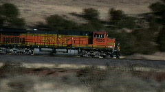 BNSF Train Pan - Editorial Stock Footage
