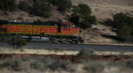 Stock Video Footage of BNSF Train Pan - Editorial