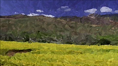 Landscape Painting 23 - HD Stock Footage