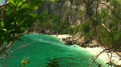 Small tropical beach on Mindoro island Stock Footage