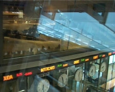 Stock exchange - clocks Stock Footage