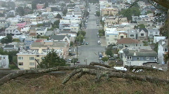 Residential Neighborhood from a high hilltop - stock footage
