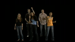 Mellow Dancing Audience Stock Footage