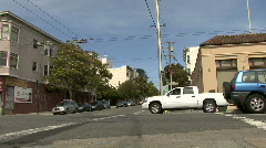 Cars Passby Streetlevel Stock Footage