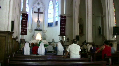 Catholic Church Mexico nuns sing prayer HD - stock footage