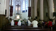 Stock Video Footage of Catholic Church Mexico nuns sing prayer HD