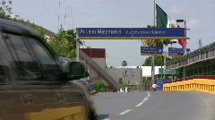 Border US Meksikoon Matamoros HD Arkistovideo