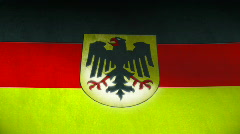 Germany national silk flag Stock Footage